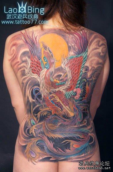 武汉最好的纹身 武汉老兵专业纹身店为你讲解凤凰纹身的讲究图片