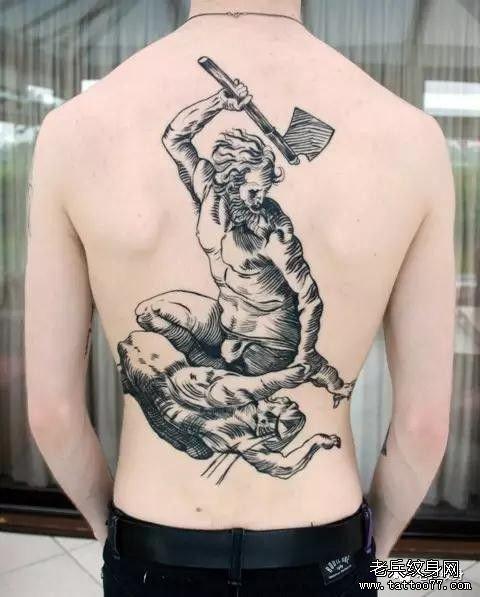 满背女吸血鬼纹身图案图片
